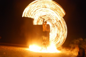 Aug. 31: Fire dancers in Koh Phi Phi, Thailand