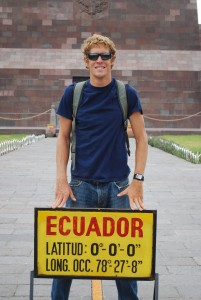 Standing on the Equator at La Mitad del Mundo Ecuador