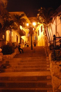 Las Penas Stairs in along the Malecon in Guayaquil Ecuador