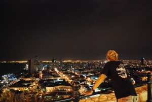 Overlooking the city of Guayaquil, Ecuador