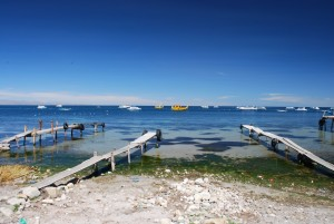 Waterfront of Copacabana Bolivia