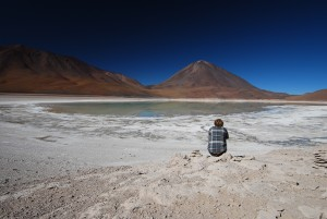 Laguna Verde in the salar de Bolivia