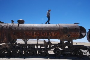 Cemetary of Trains in Uyuni Bolivia