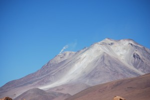 A volcano in the desert of Bolivia