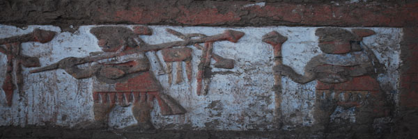 Moche Paintings at Huaca de Sol Temple, Trujillo