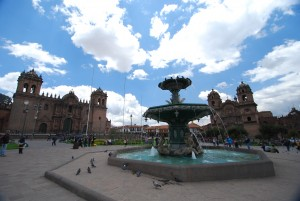 The city of Cuzco during a Peru holiday