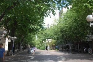 The green leafy city of Mendoza Argentina