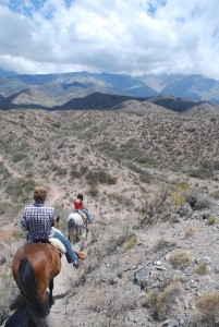 Horseback riding with Cordon del Plata outside Mendoza Argentina