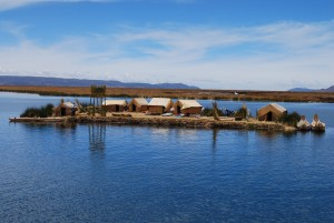 Floating Uros Islands on a holiday in Peru