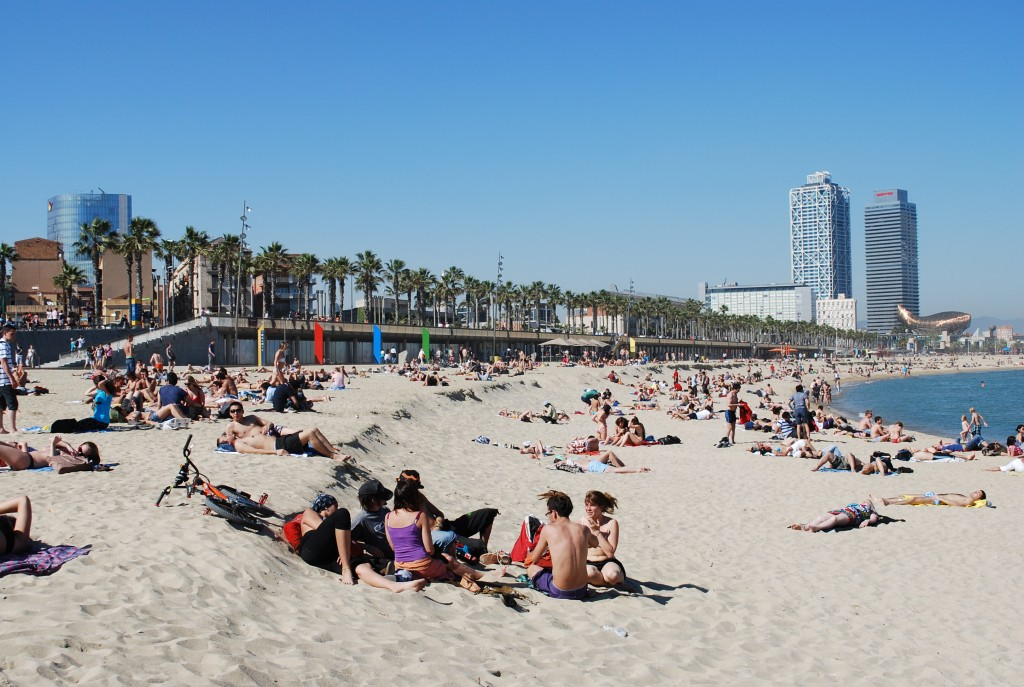 Barceloneta Beach Scene Spain