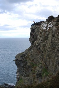 Howth head cliffs in Dublin Ireland