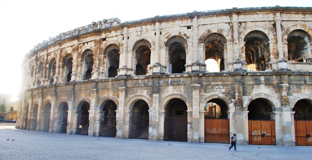 Roman Colosseum in Nimes France