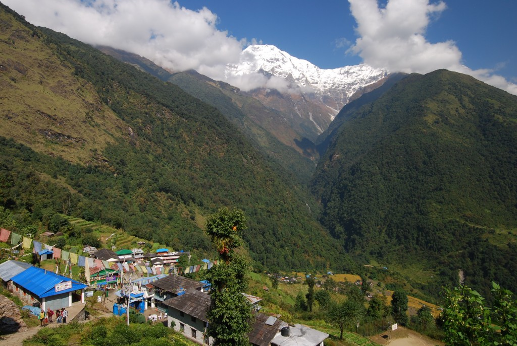 Village of Chomrong on the Annapurna Sanctuary Trek in Nepal