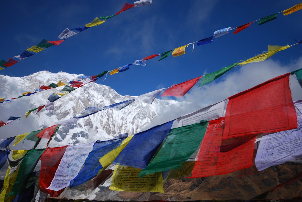 Prayer flags at Annapurna Base Camp in Nepal