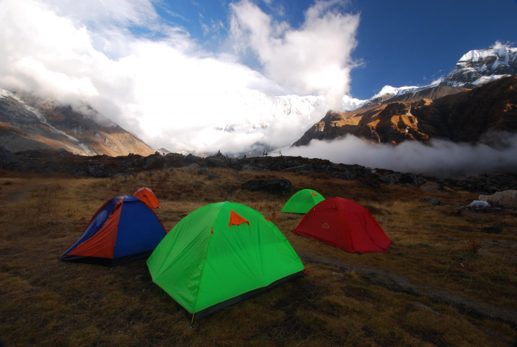 Tents at Annapurna Base camp in Nepal