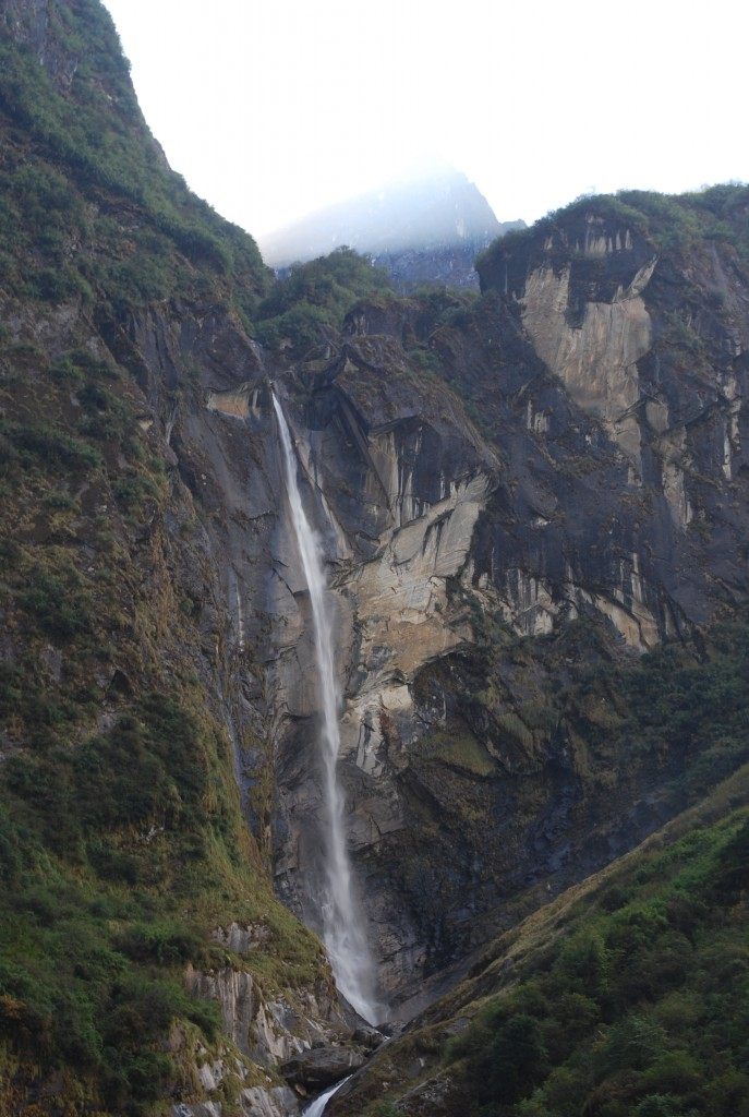 A waterfall in the Annapurna Sanctuary Nepal